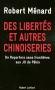 """Couverture du livre : """"Des libertés et autres chinoiseries"""""""