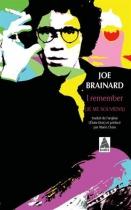 """Couverture du livre : """"I remember, je me souviens"""""""