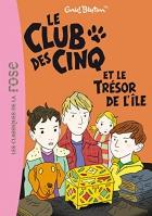 """Couverture du livre : """"Le club des cinq et le trésor de l'île"""""""