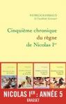 """Couverture du livre : """"Cinquième chronique du règne de Nicolas Ier"""""""