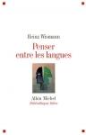 """Couverture du livre : """"Penser entre les langues"""""""