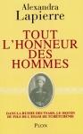 """Couverture du livre : """"Tout l'honneur des hommes"""""""