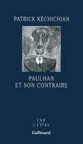 """Couverture du livre : """"Paulhan et son contraire"""""""