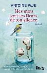 """Couverture du livre : """"Mes mots sont les fleurs de ton silence"""""""