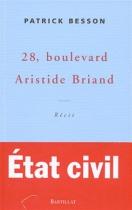 """Couverture du livre : """"28, boulevard Aristide Briand"""""""