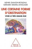 """Couverture du livre : """"Une certaine forme d'obstination"""""""