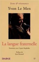 """Couverture du livre : """"La langue fraternelle"""""""