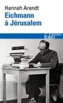 """Couverture du livre : """"Eichmann à Jérusalem"""""""