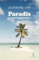 """Couverture du livre : """"Paradis (avant liquidation)"""""""