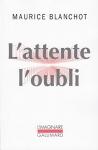 """Couverture du livre : """"L'attente l'oubli"""""""