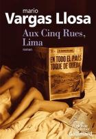 """Couverture du livre : """"Aux Cinq Rues, Lima"""""""
