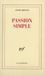 "Couverture du livre : ""Passion simple"""