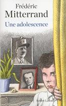 """Couverture du livre : """"Une adolescence"""""""