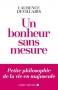 """Couverture du livre : """"Un bonheur sans mesure"""""""