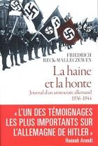 """Couverture du livre : """"La haine et la honte"""""""