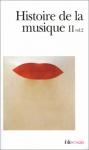 """Couverture du livre : """"Histoire de la musique"""""""