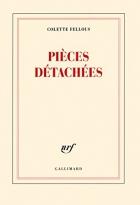 """Couverture du livre : """"Pièces détachées"""""""