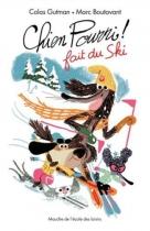 """Couverture du livre : """"Chien Pourri fait du ski"""""""