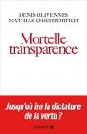 """Couverture du livre : """"Mortelle transparence"""""""