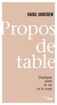 """Couverture du livre : """"Propos de table"""""""