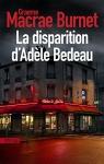 """Couverture du livre : """"La disparition d'Adèle Bedeau"""""""
