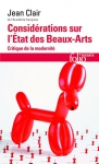 """Couverture du livre : """"Considérations sur l'État des Beaux-Arts"""""""