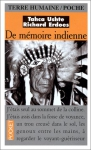 """Couverture du livre : """"De mémoire indienne"""""""