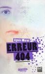 """Couverture du livre : """"Erreur 404"""""""