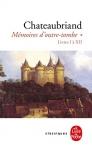 """Couverture du livre : """"Mémoires d'outre-tombe"""""""