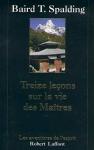 """Couverture du livre : """"Treize leçons sur la vie des maîtres"""""""