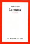 """Couverture du livre : """"La preuve"""""""