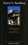 "Couverture du livre : ""Ultimes paroles"""