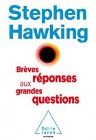 """Couverture du livre : """"Brèves réponses aux grandes questions"""""""