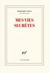 """Couverture du livre : """"Mes vies secrètes"""""""