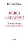 """Couverture du livre : """"Merci l'Europe !"""""""