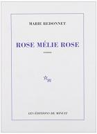 """Couverture du livre : """"Rose Mélie Rose"""""""