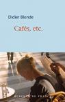 """Couverture du livre : """"Cafés, etc."""""""