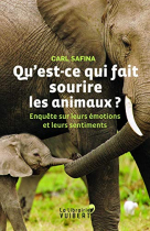 """Couverture du livre : """"Qu'est-ce qui fait sourire les animaux ?"""""""