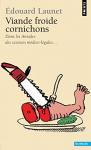 """Couverture du livre : """"Viande froide, cornichons"""""""