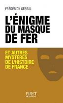 """Couverture du livre : """"L'énigme du masque de fer"""""""