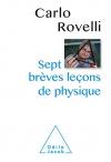 """Couverture du livre : """"Sept brèves leçons de physique"""""""