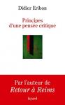 """Couverture du livre : """"Principes d'une pensée critique"""""""