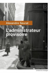 """Couverture du livre : """"L'administrateur provisoire"""""""