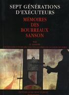 """Couverture du livre : """"Sept générations d'exécuteurs"""""""