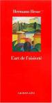 """Couverture du livre : """"L'art de l'oisiveté"""""""