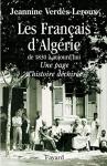 """Couverture du livre : """"Les Français d'Algérie de 1830 à aujourd'hui"""""""