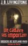 """Couverture du livre : """"Un cadavre sans importance"""""""