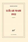 """Couverture du livre : """"Leilah Mahi, 1932"""""""