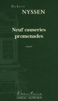 """Couverture du livre : """"Neuf causeries promenades"""""""
