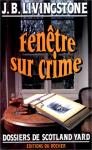"""Couverture du livre : """"Fenêtre sur crime"""""""